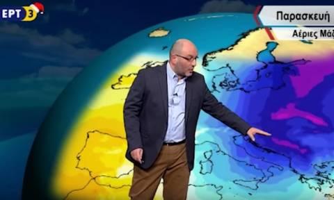 Καιρός ΕΡΤ3: Ο Σάκης Αρναούτογλου αποκαλύπτει πού θα χιονίσει σε Αθήνα και Θεσσαλονίκη! (ΧΑΡΤΕΣ)