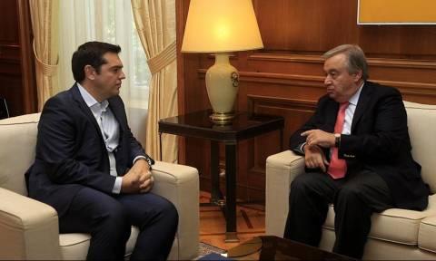 Κυπριακό: Τηλεφωνική επικοινωνία Τσίπρα με τον γενικό γραμματέα του ΟΗΕ