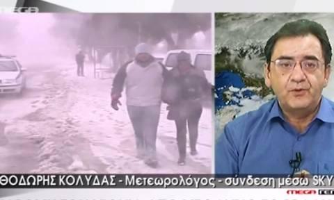 Θοδωρής Κολυδάς: «Αυτός είναι ο... καλός χιονιάς» (video)