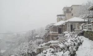 Καιρός: Δριμύ ψύχος και σφοδρή χιονόπτωση στο Βόλο και το Πήλιο
