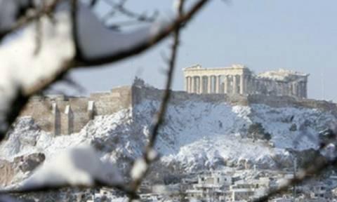 На Грецию обрушились аномальные морозы и снегопады