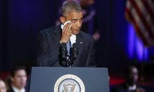 ΗΠΑ: Συγκινητικό «αντίο» Ομπάμα με δάκρυα στα μάτια (Pics+Vid)