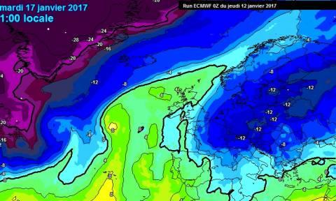 Καιρός: Σκάει νέος πανευρωπαϊκός χιονιάς, έρχονται χιόνια ξανά και στην Ελλάδα (Χάρτες κρύου)