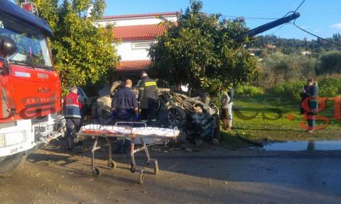 Τραγωδία στα Βραχναίικα: Νεκρός 25χρονος σε τροχαίο (pics&vids)