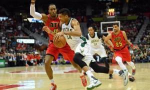 NBA: Μεγάλη εμφάνιση στην Ατλάντα ο Αντετοκούνμπο