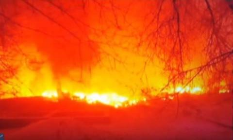 Συγκλονιστικό βίντεο από την πτώση του τουρκικού αεροσκάφους στο Κιργιστάν