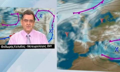 Πού θα χιονίσει την Τρίτη; Δείτε το δελτίο καιρού του Θοδωρή Κολυδά (Video)