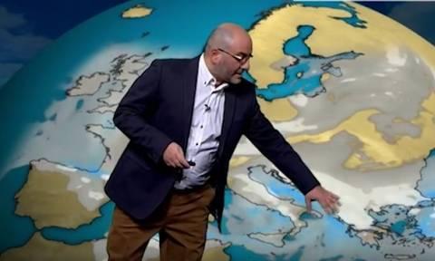 Σάκης Αρναούτογλου: Οι χιονοπτώσεις, τα υψόμετρα και οι χαλαζοπτώσεις (video)