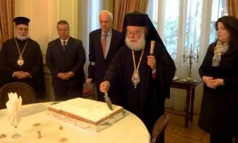 Την πίτα της Ελληνικής Πρεσβείας στο Κάιρο ευλόγησε ο Πατριάρχης Αλεξανδρείας Θεόδωρος