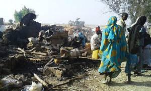 Νιγηρία: Τουλάχιστον 90 νεκροί από «λάθος βομβαρδισμό» σε καταυλισμό προσφύγων (vid)