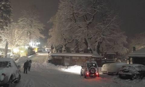 Καιρός - «Θάφτηκε» στο χιόνι η ορεινή Ήπειρος - Προβλήματα στο οδικό δίκτυο