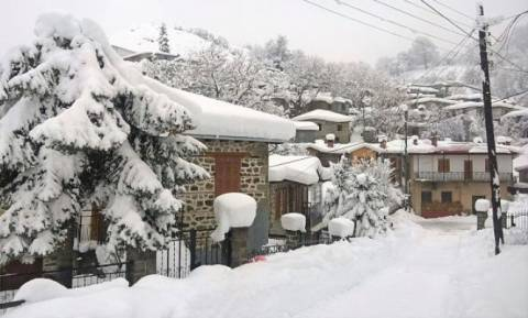 Πανέμορφες εικόνες από τη χιονισμένη Μηλιά Μετσόβου (photos)