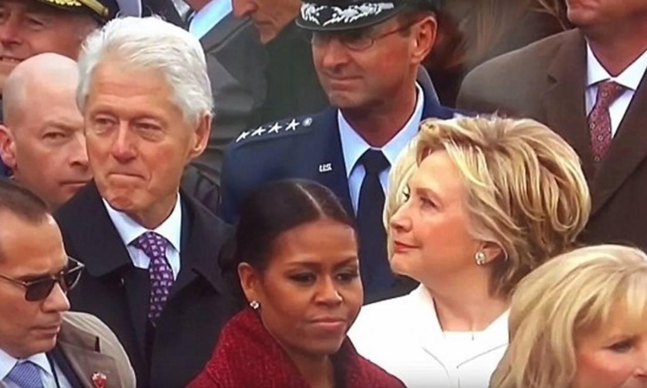 Σάλος στις ΗΠΑ: Η Χίλαρι έπιασε τον Μπιλ Κλίντον να... γλυκοκοιτάζει την Ιβάνκα Τραμπ! (vid+pics)