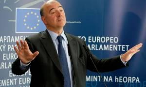 Μοσκοβισί: Η διαδικασία ελάφρυνσης του ελληνικού χρέους μπορεί να ξεκινήσει