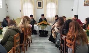 Ο μητροπολίτης Κηφισίας μίλησε σε μαθητές Λυκείου για τα Θρησκευτικά