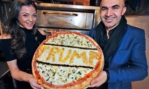 Πίτσα «Τραμπ» με... χρυσό για καλό σκοπό! (pics)