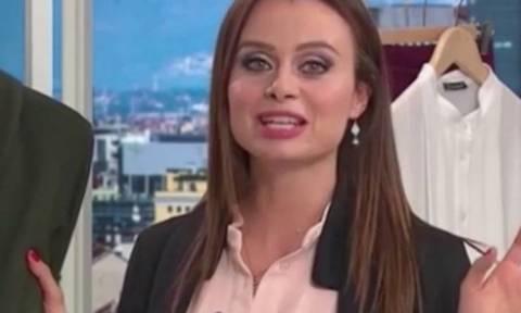 Χαμός στον αέρα: Παρουσιάστρια «προδόθηκε» από το κουμπί της και αποκάλυψε το… (video)