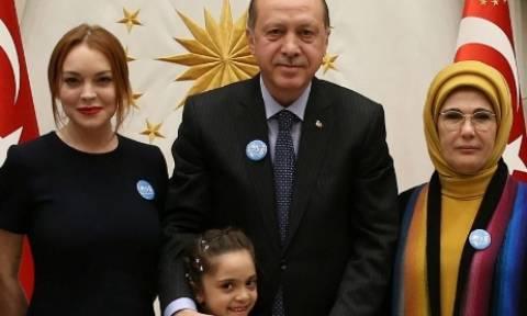Όταν η Λίντσεϊ Λόχαν συνάντησε τον Ερντογάν (photos)
