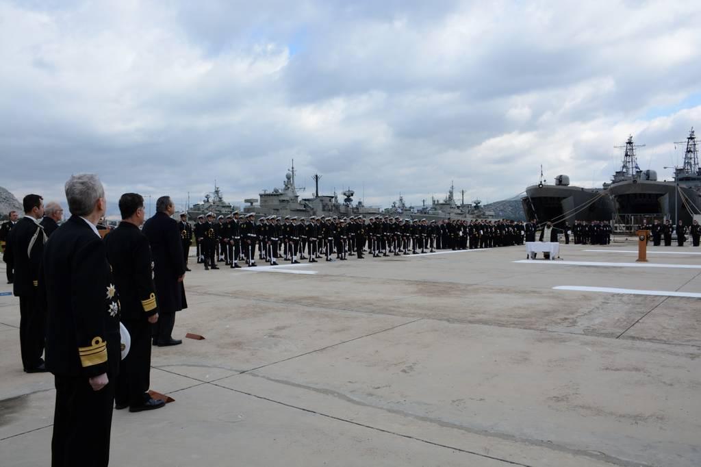 Πολεμικό Ναυτικό: Τελετή Παράδοσης - Παραλαβής Αρχηγού Στόλου (pics)