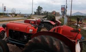 Μπλόκα αγροτών: Ολιγόλεπτος αποκλεισμός της εθνικής οδού Χανίων-Ρεθύμνου