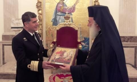 Μήνυμα με νόημα του Πατριάρχη Αλεξανδρείας στον αρχηγό ΓΕΝ: Εσείς υποστηρίζετε τις νησίδες μας