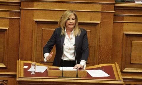 Βουλή - Γεννηματά προς Τσίπρα: Η σκευωρία σας απέτυχε - Τα «άπλυτά» σας βγήκαν στη φόρα