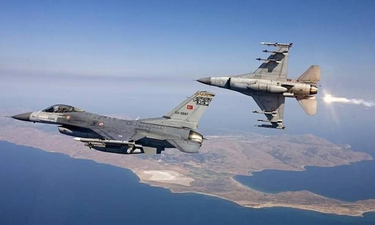 Οπλισμένα τουρκικά μαχητικά στο Αιγαίο – Εικονικές αερομαχίες με Έλληνες πιλότους