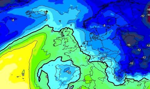 Καιρός: Ερχεται... Ολοταχώς για χιονισμένη Τσικνοπέμπτη (χάρτες κρύου)