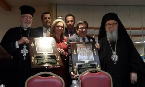Το βραβείο «Ελληνικής Κληρονομιάς» στους βουλευτές Μπιλιράκη και Μαλόνι