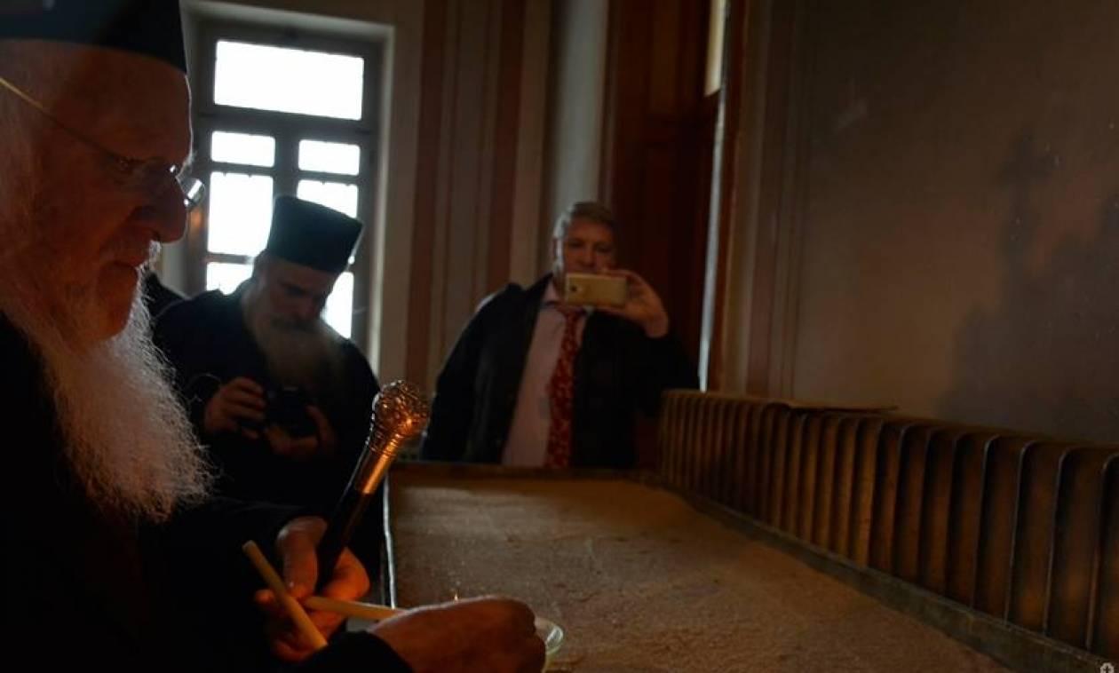 O Οικουμενικός Πατριάρχης στη Θεολογική Σχολή της Χάλκης (pics)