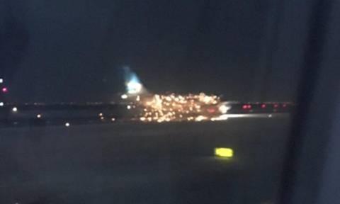 Έκρηξη σε αεροπλάνο λίγο πριν την απογείωση στο αεροδρόμιο JFK στη Νέα Υόρκη (Vid)