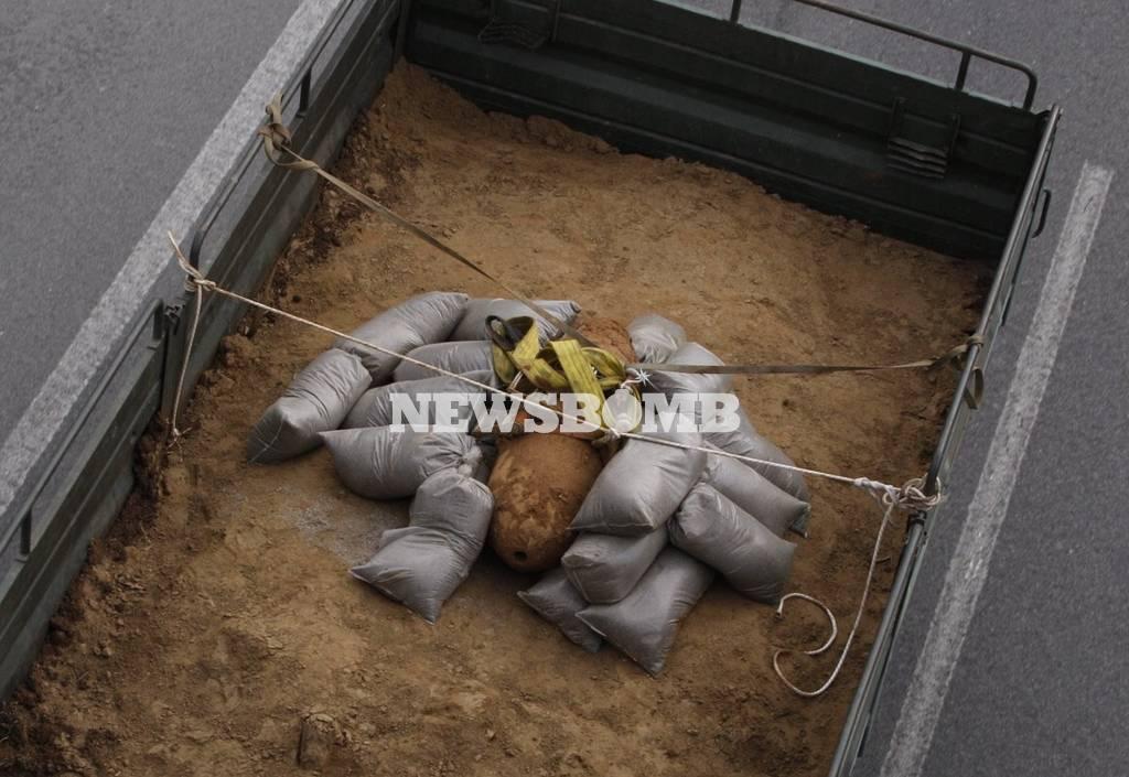 Βόμβα Κορδελίο: Κάρε κάρε η μεταφορά της στο πεδίο βολής