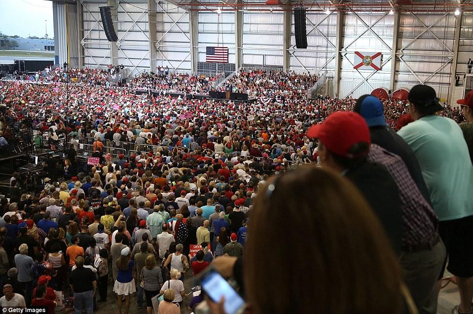 3D6576C700000578 4238426 Thousands of peole listen as President Donald Trump speaks durin a 62 1487463282195