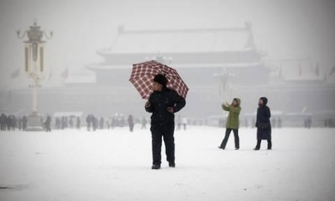Σε «μπλε συναγερμό» η Κίνα - Έρχεται δριμύ ψύχος