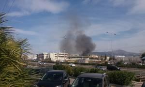 Έσβησε η μεγάλη φωτιά στην Εθνική Οδό Αθηνών - Λαμίας στο ύψος της Λυκόβρυσης (pics)