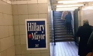 ΗΠΑ: Πάει για δήμαρχος η Χίλαρι; - Οι αφίσες-μυστήριο στους δρόμους της Νέας Υόρκης