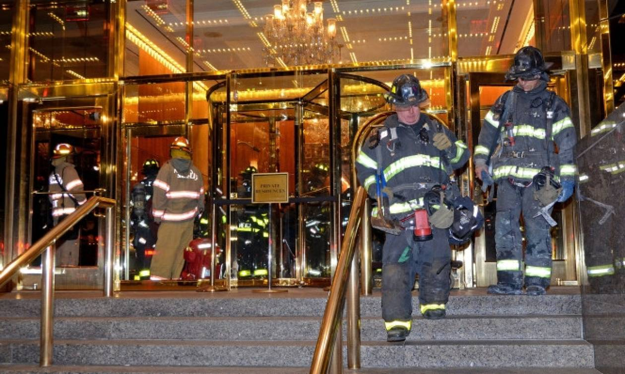 Συναγερμός στη Νέα Υόρκη από φωτιά στον ουρανοξύστη του Τραμπ (pics+vid)