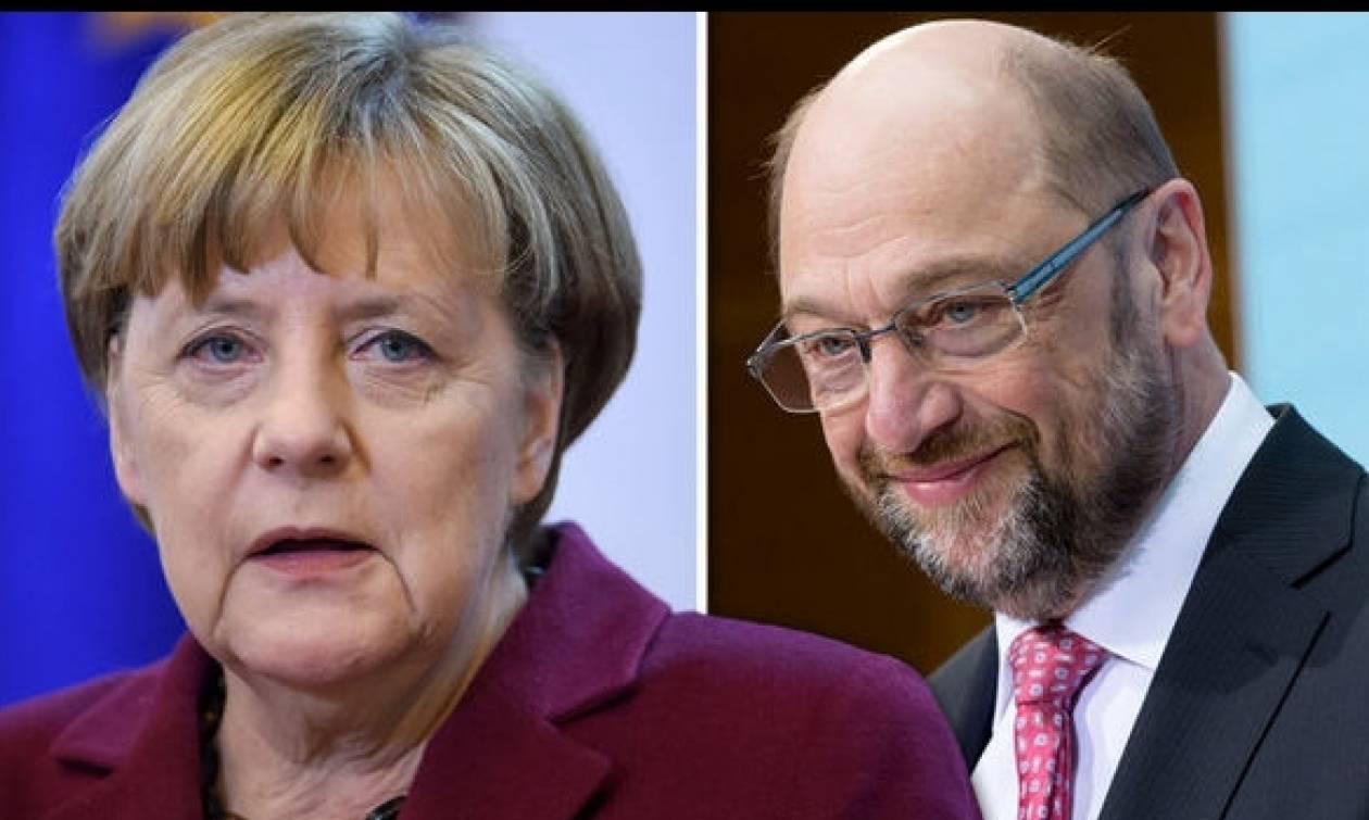 Γερμανία: Προβάδισμα μιας μονάδας των συντηρητικών της Μέρκελ επί των Σοσιαλδημοκρατών