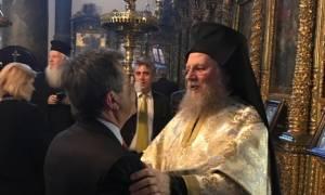 Ο Νίκος Νικολόπουλος στο Πατριαρχείο