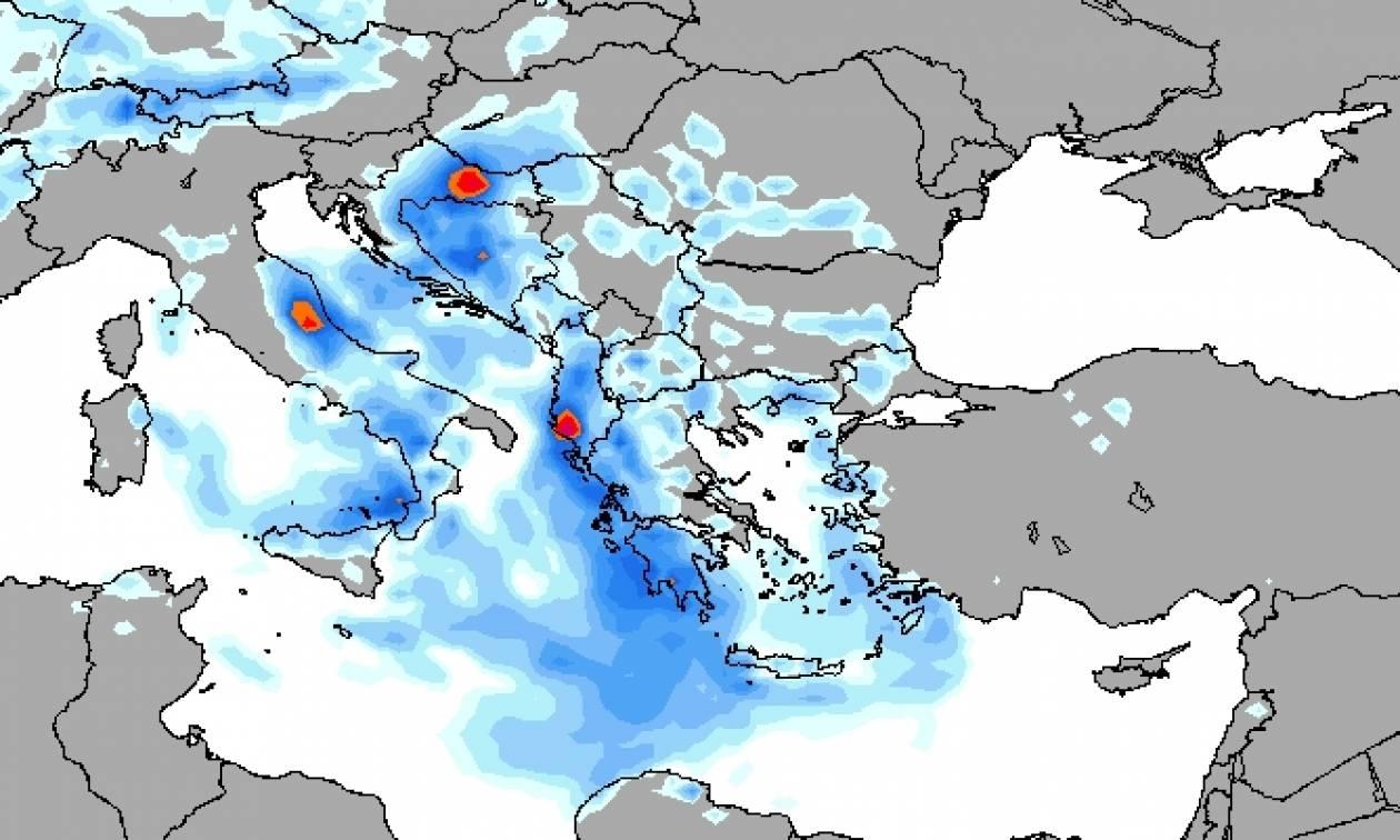 Καιρός ΕΜΥ: Η «Γαλάτεια» κυκλώνει τη χώρα – Πού βρέχει τώρα