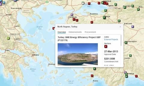 Πρόκληση: Η Παγκόσμια Τράπεζα εμφανίζει το Βόρειο Αιγαίο ως τουρκικό!