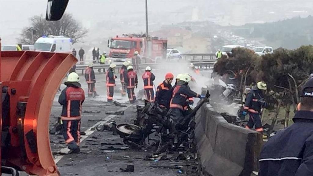 Συνετρίβη ελικόπτερο στην Κωνσταντινούπολη