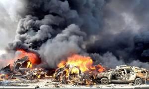Νέο «λουτρό αίματος» στη Συρία: Δεκάδες νεκροί από διπλή έκρηξη στη Δαμασκό (Pics)