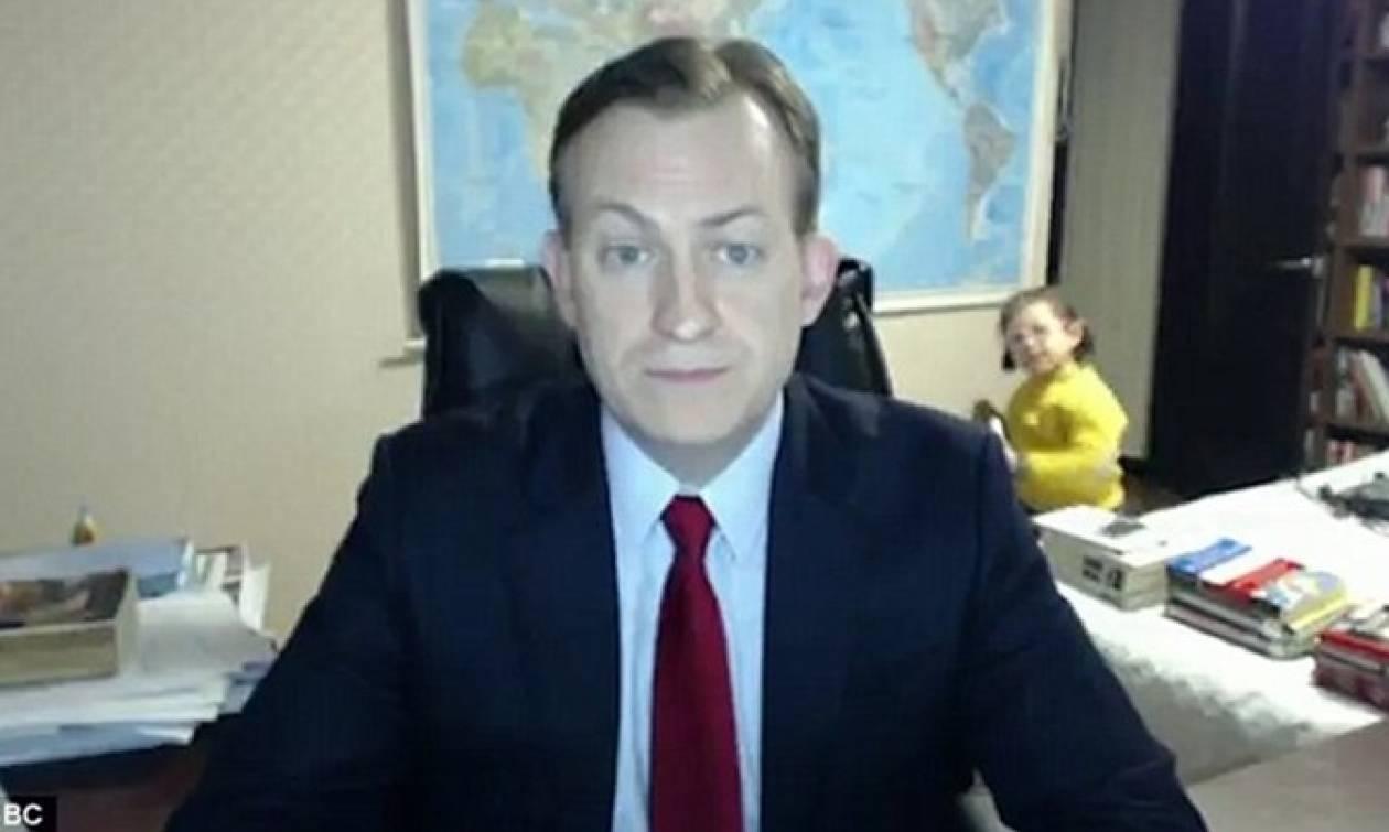 Αυτός είναι ο λόγος που τα παιδιά διέκοψαν τη συνέντευξη του μπαμπά τους στο BBC
