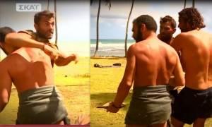 Χαμός στο σημερινό Survivor: Χανταμπάκης – Αγγελόπουλος πιάνονται στα χέρια - Τι συνέβη;