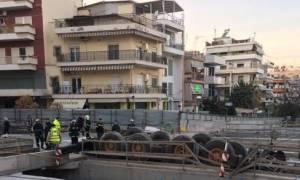 Ανετράπη γερανός του μετρό Θεσσαλονίκης - Σοβαρά τραυματισμένος ο χειριστής