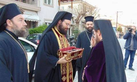 Υποδοχή της Δεξιάς Χειρός του Αγίου Σπυρίδωνος στο Βόλο