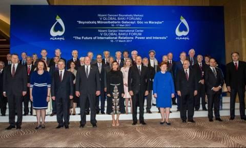 Η Μαριάννα Βαρδινογιάννη στο 5ο Global Baku Forum
