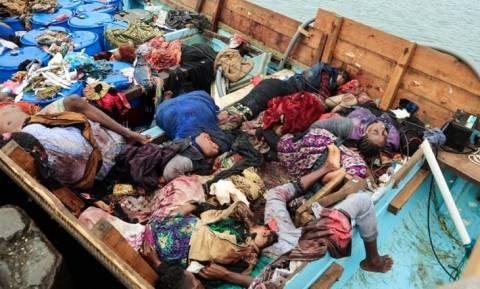 Φωτογραφίες σοκ από την Υεμένη: Εκτέλεσαν δεκάδες πρόσφυγες εν πλω!