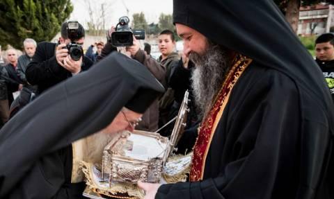 Υποδοχή αφθάρτου χειρός του Αγίου Γεωργίου στη Θεσσαλονίκη